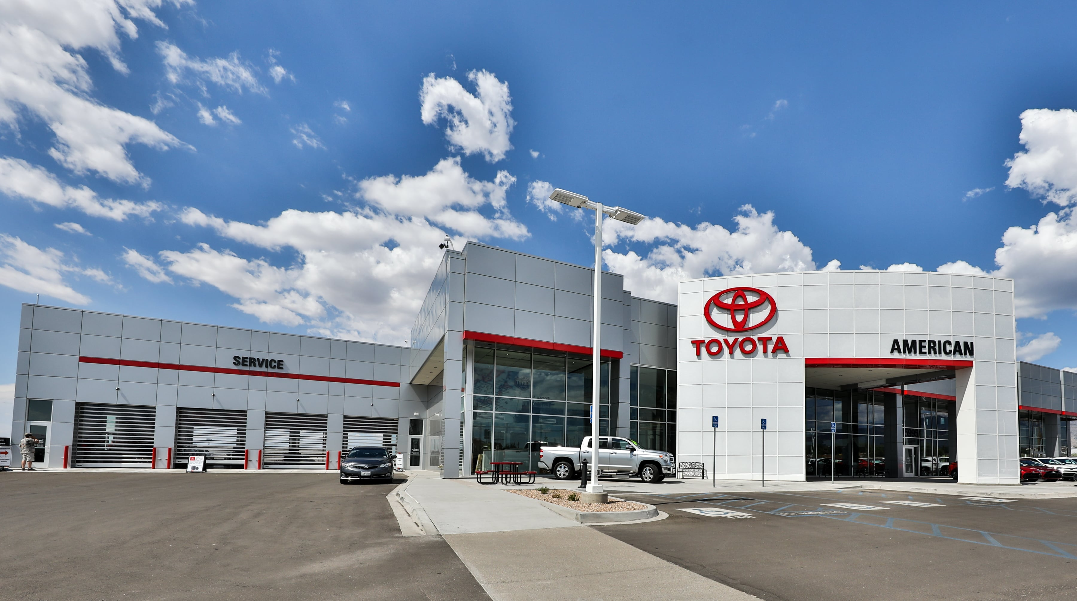 introducing our new and improved dealership at larry h miller american toyota albuquerque. Black Bedroom Furniture Sets. Home Design Ideas
