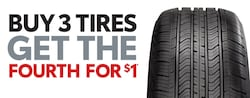 Buy 3 Tires, get the 4th Tire for $1