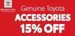 Genuine Toyota Accessories 15% Off