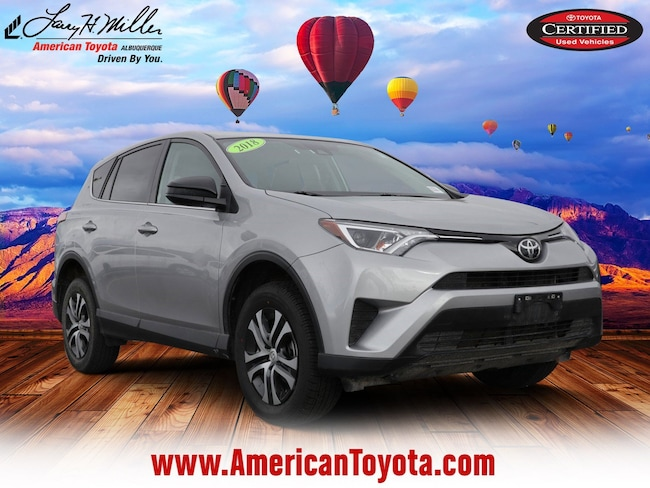 Certified pre-owned 2018 Toyota RAV4 LE SUV for sale in Albuquerque, NM