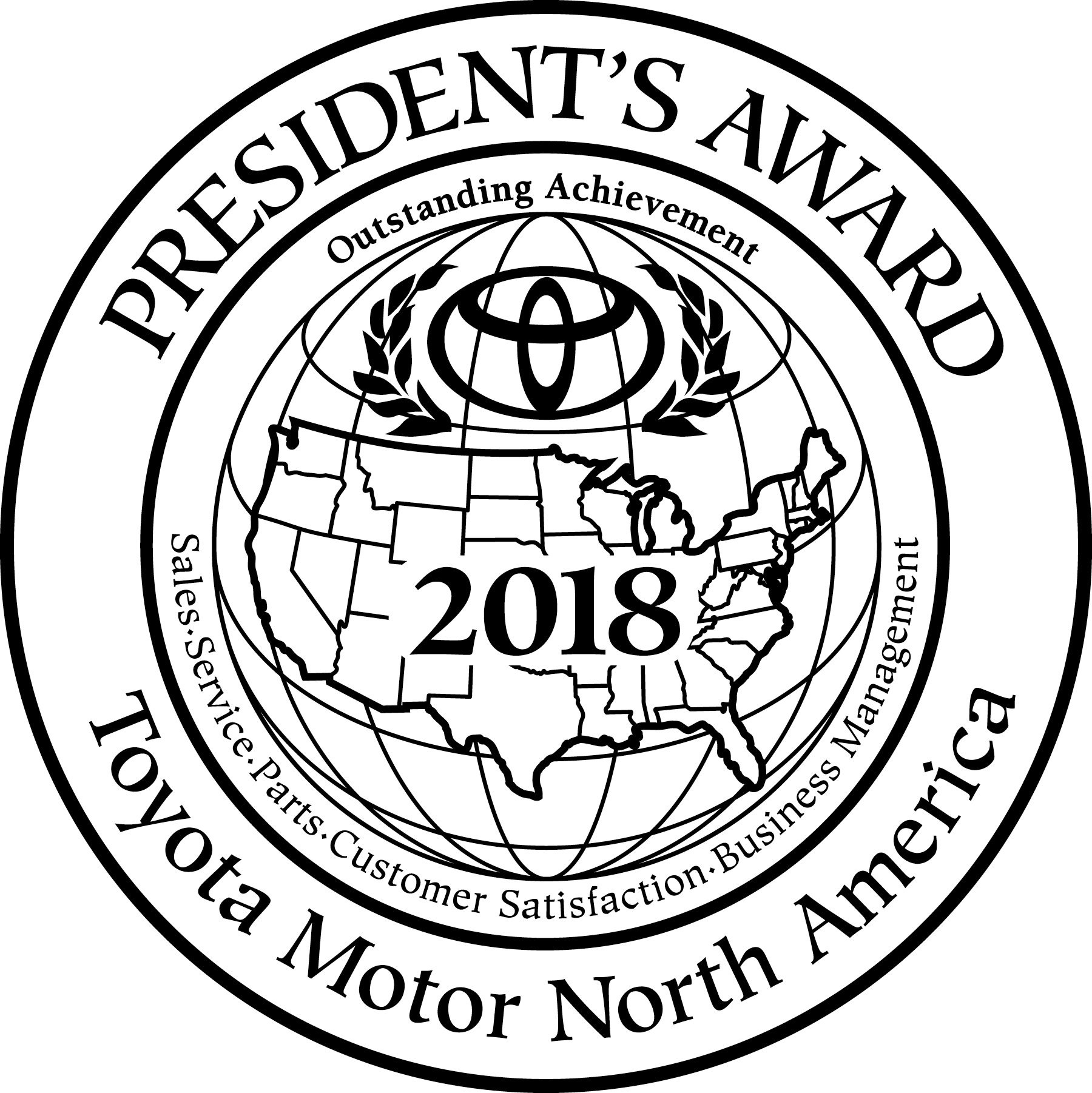 American Toyota 2018 Presidents Award