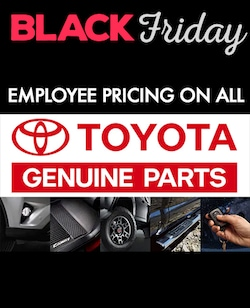 Employee Pricing on ALL Toyota Genuine Parts