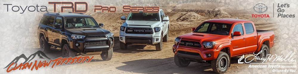 Toyota TRD Pro Series Off-Road Vehicles in Albuquerque