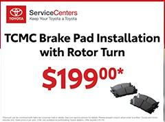 TCMC Brake Pads Installation with Rotor Turn