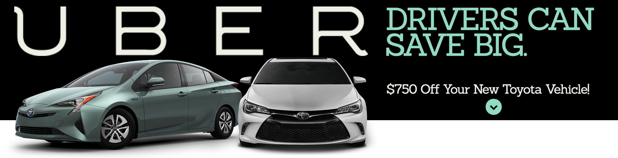 We are happy to announce the collaboration with uber technologies inc eligible uber drivers can now earn 750 off a purchase of a new toyota vehicle