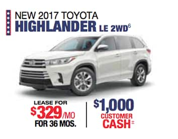 Labor Day Sales Event Toyota Highlander