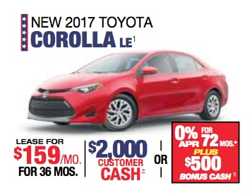 Labor Day Sales Event Toyota Corolla