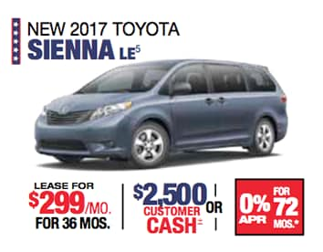 Labor Day Sales Event Toyota Sienna