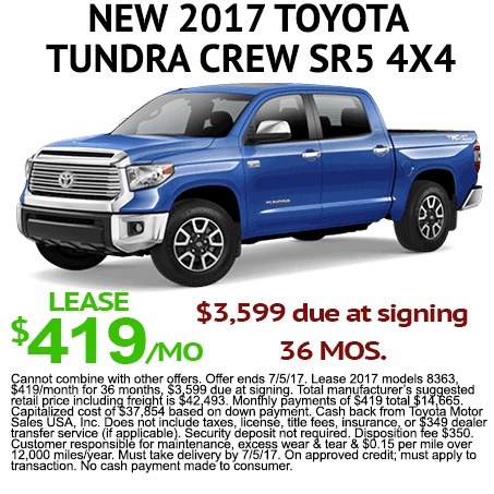 New 2017 Toyota Tundra Lease Special Albuquerque