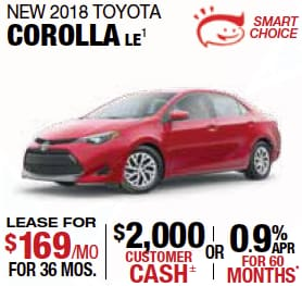 Labor Day Corolla Offer