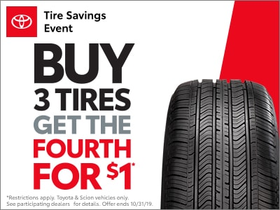 Buy 3 Tires, Get 4th for $1!