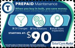 Prepaid Maintenance Package