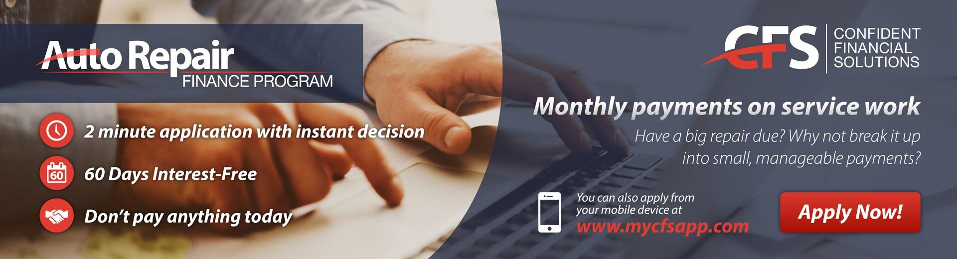Auto Repair Finance Application