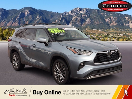 Featured Used 2020 Toyota Highlander Platinum Platinum AWD for sale near you in Colorado Springs, CO