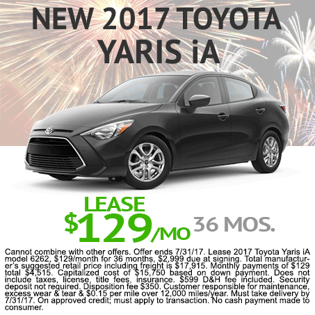 New 2017 Yaris iA Lease $129/mo Colorado Springs