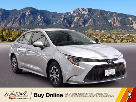 Featured New 2021 Toyota Corolla Hybrid LE Sedan for sale near you in Colorado Springs, CO