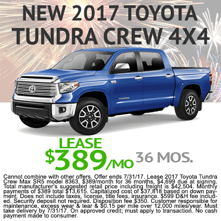 2017 Toyota Tundra Lease $389/mo Colorado Springs