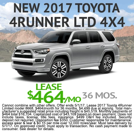 New Toyota 4Runner Lease Colorado Springs, CO