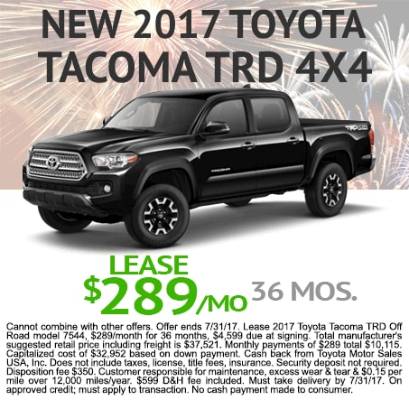 2017 Toyota Tacoma Lease $289/mo Colorado Springs