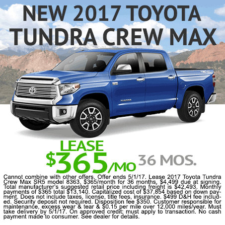 New Toyota Tundra Lease Colorado Springs, CO