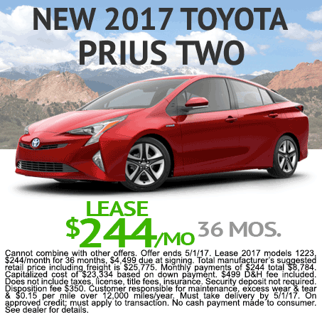 New Toyota Prius Lease Colorado Springs, CO
