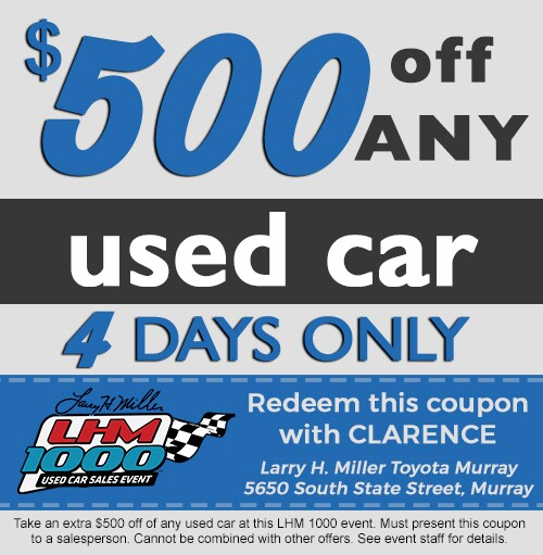 Larry H. Miller Toyota Murray Used Car Sales Event in West ...