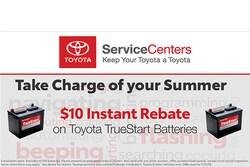 $10 Instant Rebate on Toyota TrueStart Batteries
