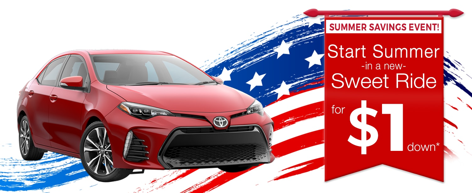$1 Down Summer Sales Event at LHM Toyota Murray