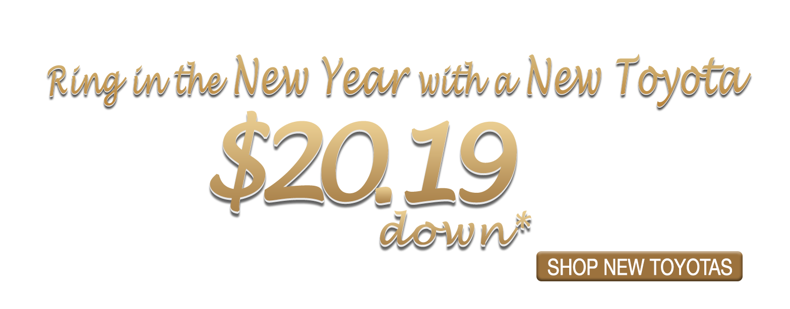 Ring in the New Year with a New Toyota for $20.19 Down at Larry H. Miller Toyota Murray