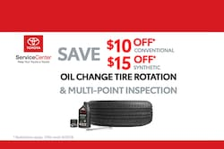 Oil Change, Tire Rotation & Multi-Point Inspection