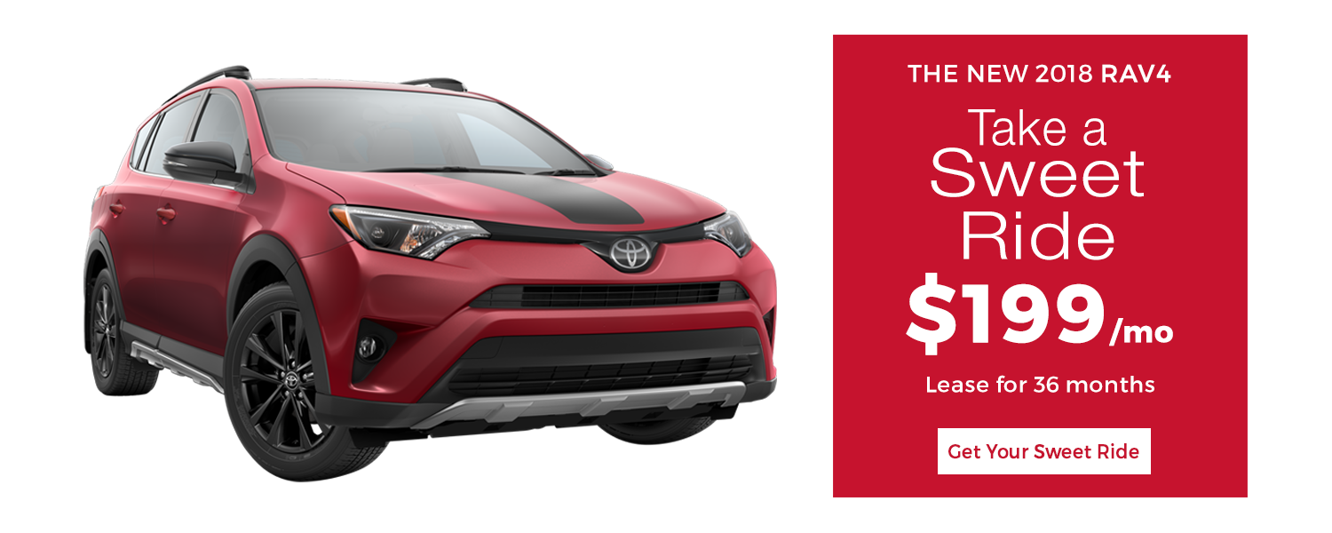 Lease a 2018 Toyota RAV4 for $249/mo