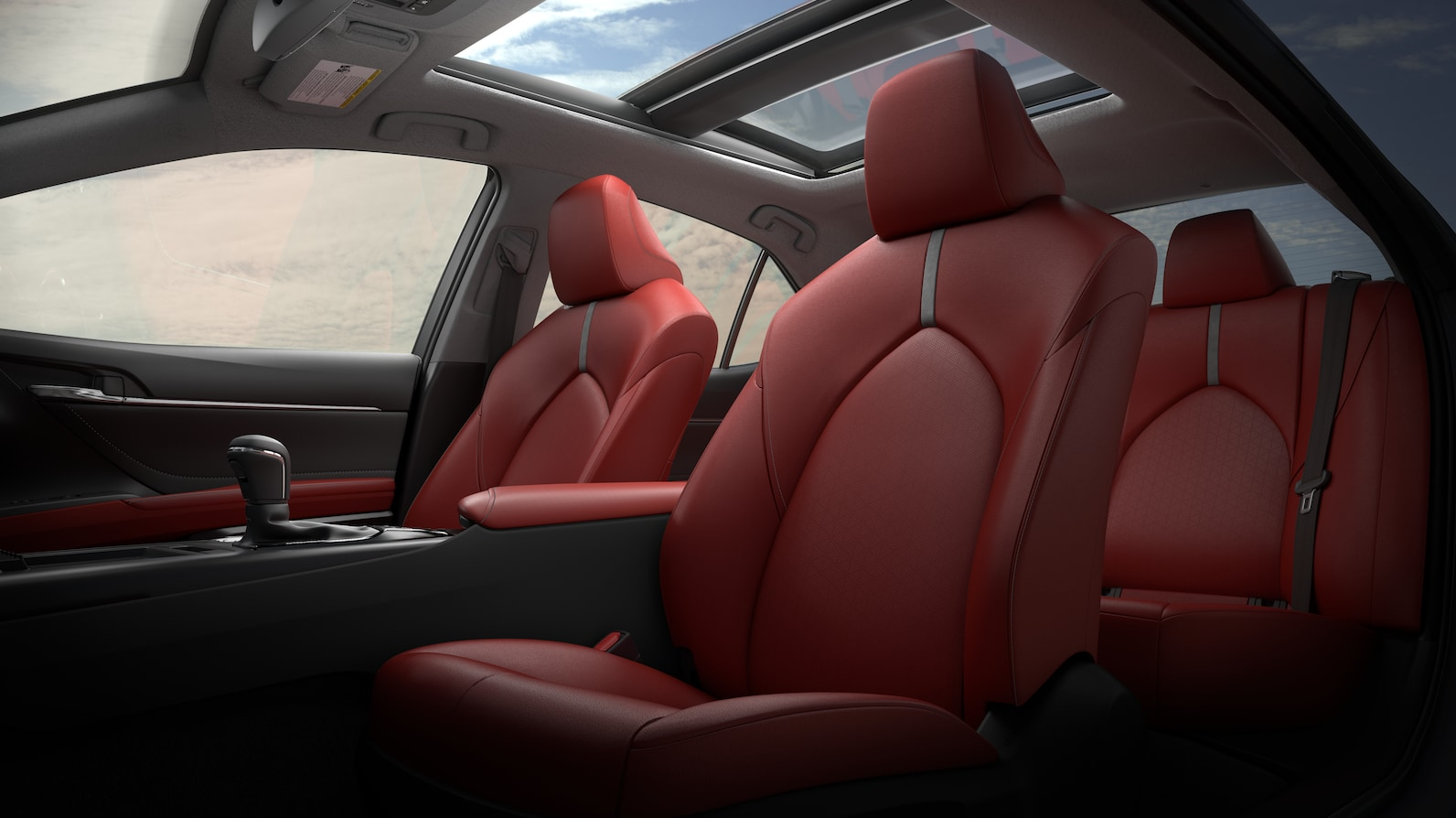 Toyota Camry red interior