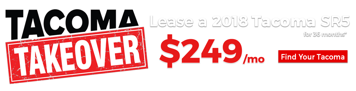 Lease a 2018 Toyota Tacoma for $249/mo for 36 Months at Larry H. Miller Toyota Murray
