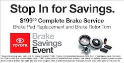 Complete Brake Pad Service