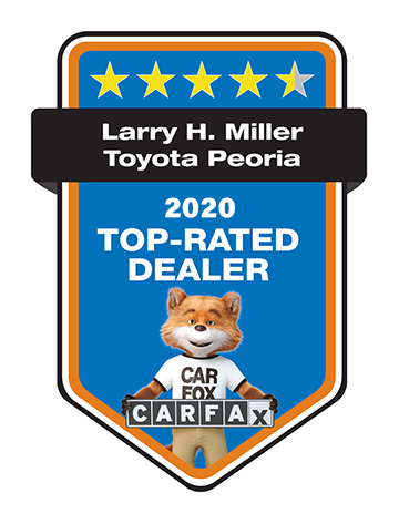 Larry H. Miller Toyota Peoria 2020 CARFAX TOP RATED DEALER