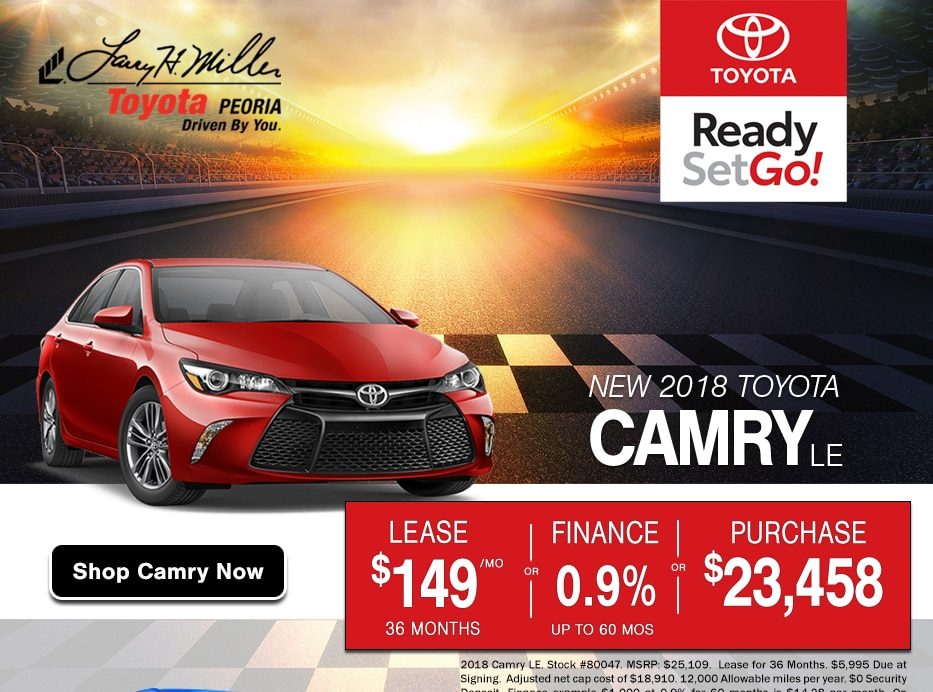 Browse New Camry Inventory in Peoria, AZ and take advantage of Presidents Day Sale offers that lost all month long.