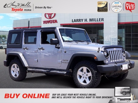 Featured Used 2014 Jeep Wrangler Unlimited Sport 4x4 for sale near you in Peoria, AZ