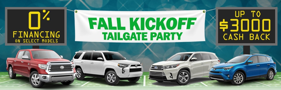 Fall Kickoff Tailgate Party & New Toyota Offers in Peoria near Phoenix