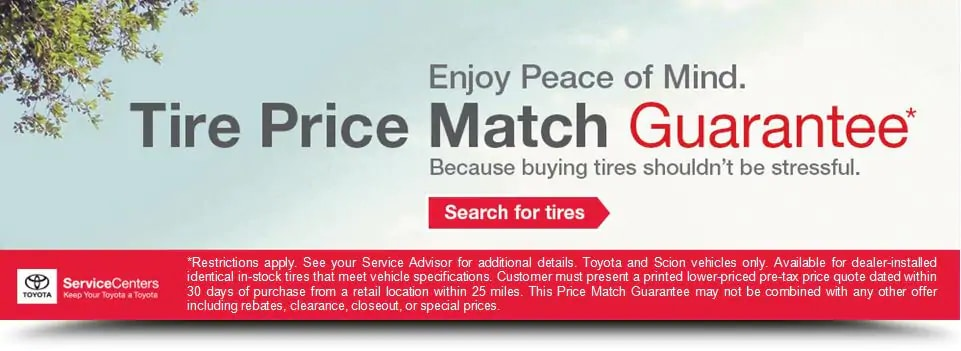 Toyota Tire Price Match Guarantee
