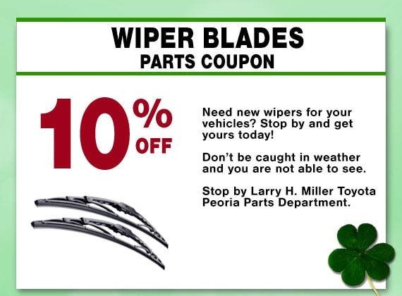 Save on Wiper Blades at Larry H Miller Toyota Peoria Parts Department