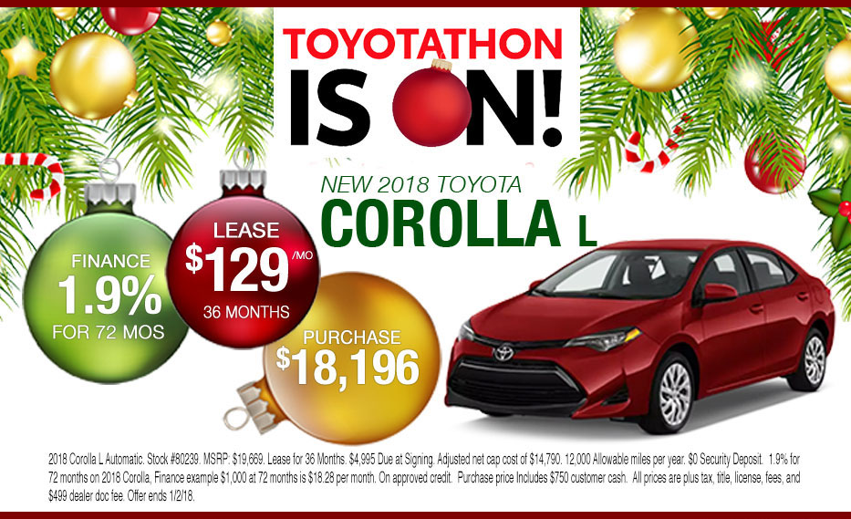 New 2018 Corolla Lease or Purchase Offer for Peoria Toyota Shoppers