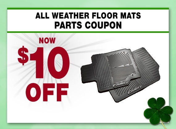 Save on Floor Mats at Larry H Miller Toyota Peoria Parts Department