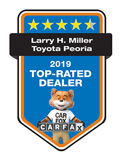 Larry H. Miller Toyota Peoria 2019 CARFAX TOP RATED DEALER