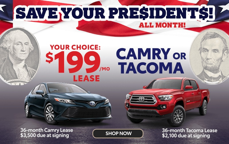 $199 Lease Offers on 2020 Camry and Tacoma from Larry H. Miller Toyota Peoria*