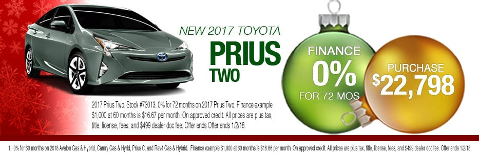 New 2017 Prius Purchase Offer for Peoria Toyota Shoppers