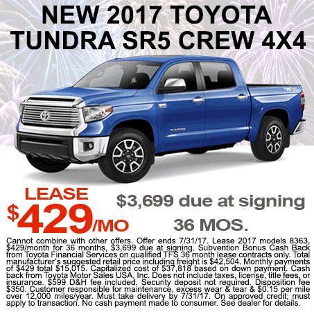 New Toyota Tundra Lease  $429/mo Colorado Springs