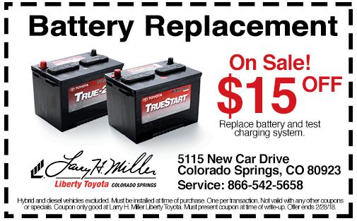 Larry H Miller Toyota Colorado Springs >> Toyota Service & Repair Coupons | Larry H. Miller Liberty ...