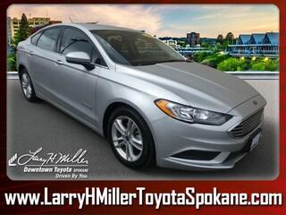 bargain pre-auction vehicles 2018 Ford Fusion Hybrid SE Sedan 3FA6P0LU3JR124713 for sale near you in Spokane, WA