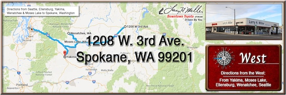 Directions from Western Washington to Larry H  Miller