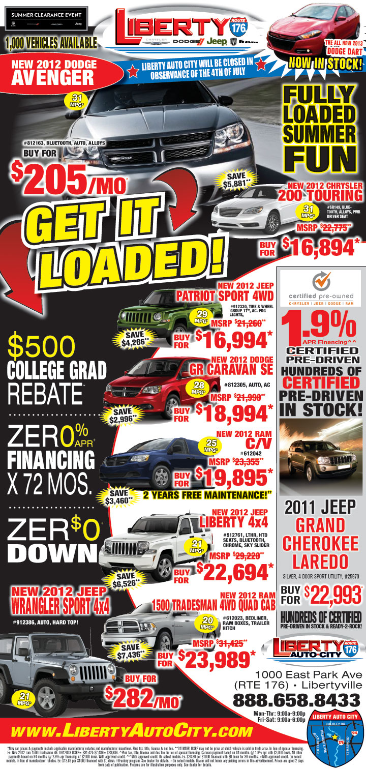 Used Car Newspaper Ads